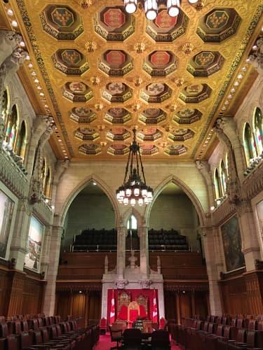 カナダ オタワ カナダ国会議事堂内