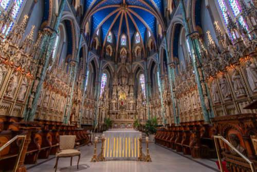 カナダ オタワ ノートルダム大聖堂の内装