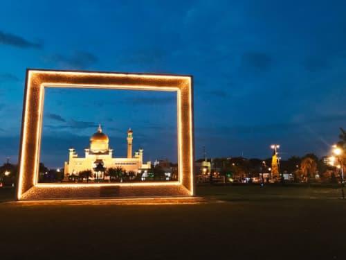夜のオールドモスク