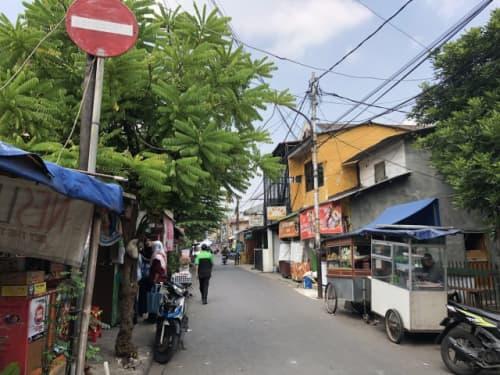 ジャカルタの路地裏