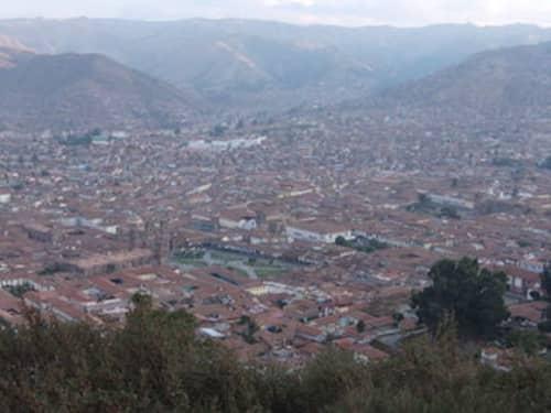 クスコ市街地の景色