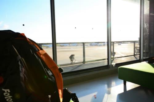 出国前の空港