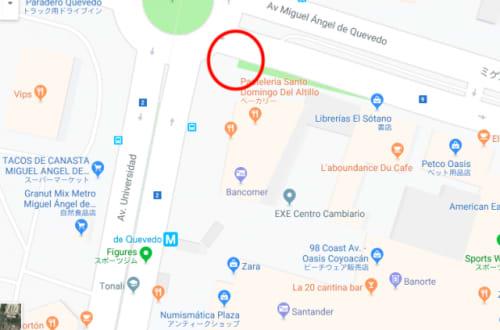 メキシコシティ バザール・コヨアカン周辺地図