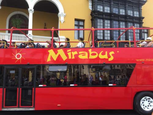 二階建ての観光バス