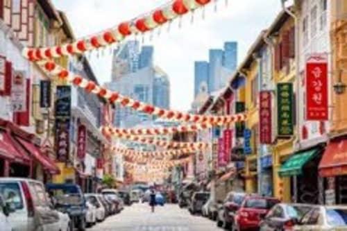 中華とインドの融合したエリア