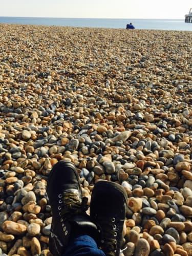 ブライトンのペブルビーチ