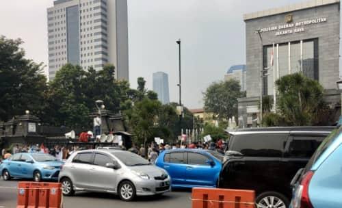 ジャカルタのデモの様子