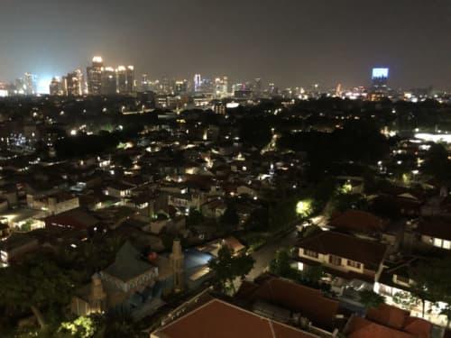 ジャカルタの夜景