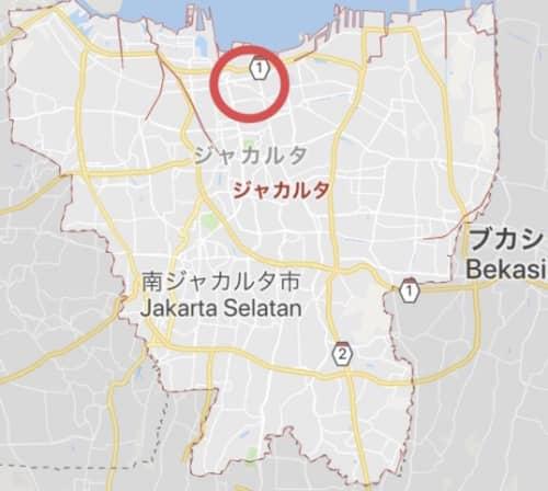 コタエリアのグーグルマップ