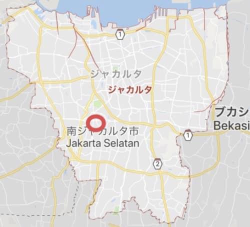 ブロックMエリアのグーグルマップ