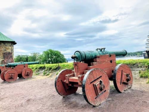 アーケシュフース城の砲台