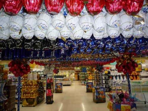 イースターの時期のスーパーの様子