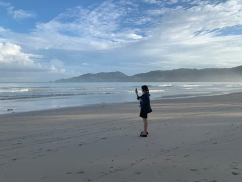 朝のパトンビーチ
