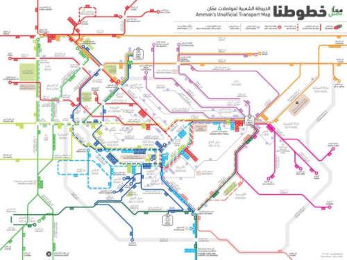 アンマンの大型バス路線図