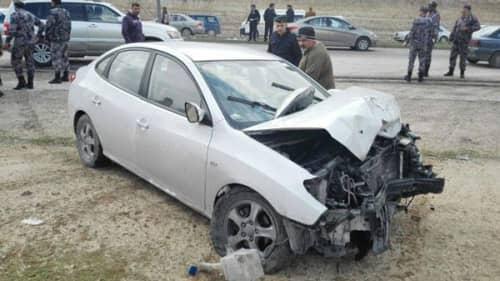 ヨルダンの自動車事故の写真