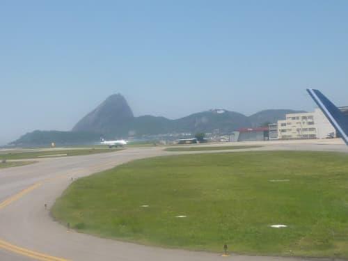 サントス・ドゥモン空港着陸の様子