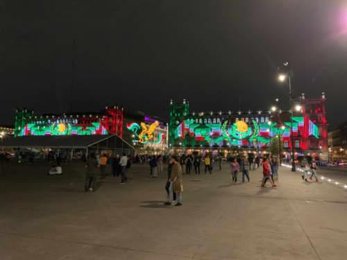 メキシコシティのイルミネーション