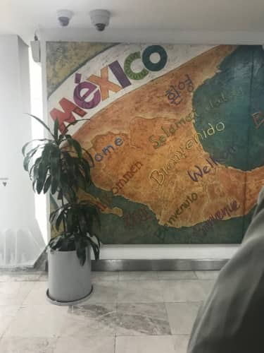 メキシコシティ空港の壁画
