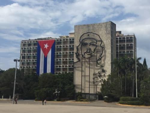 キューバにあるチェゲバラのビル