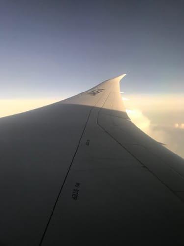 上空での機内写真