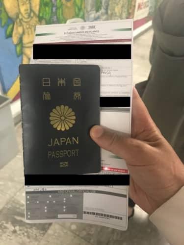 メキシコの出入国書類