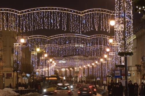 大晦日のワルシャワ市内の様子