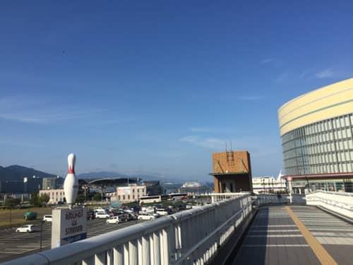 大津港へ向かう道