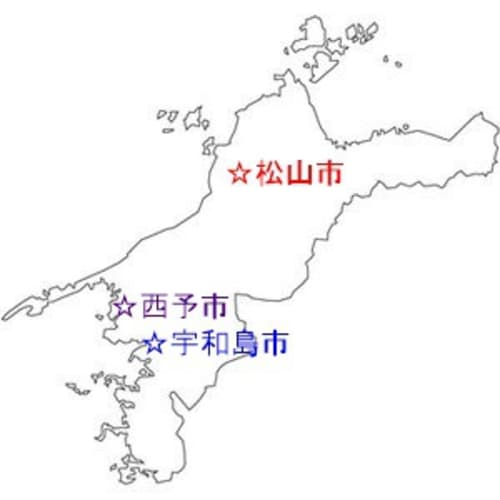 愛媛県 地図