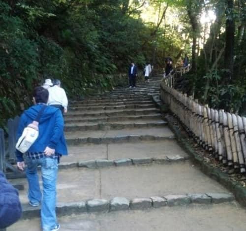 彦根城へ続く階段