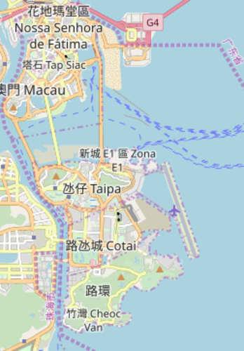 マカオ コタイ地区の地図