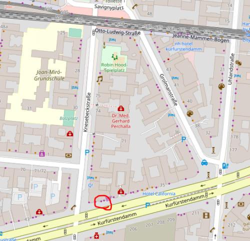 シュタイフショップ ベルリン(Steiff Shop Berlin)の地図
