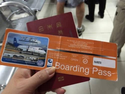 搭乗券は厚紙で作られており、リサイクルするようです。