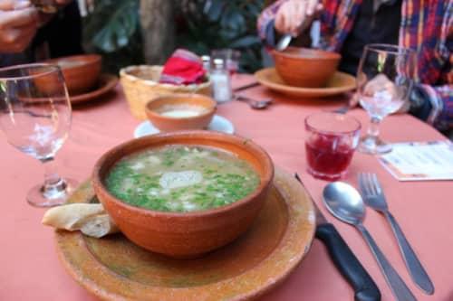 スープを注文しました。