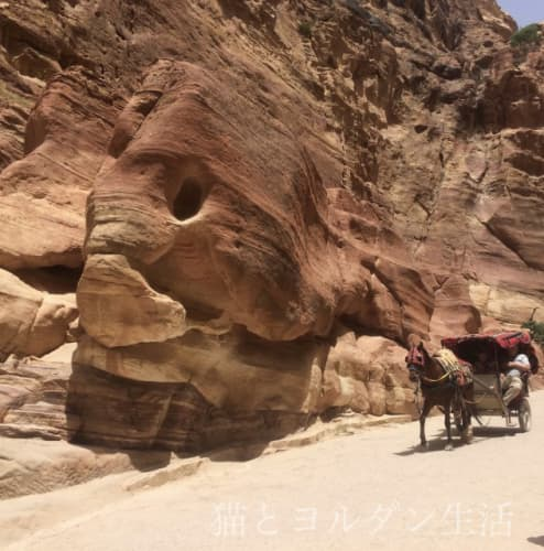 ペトラ、シーク内にある『象』と呼ばれている岩