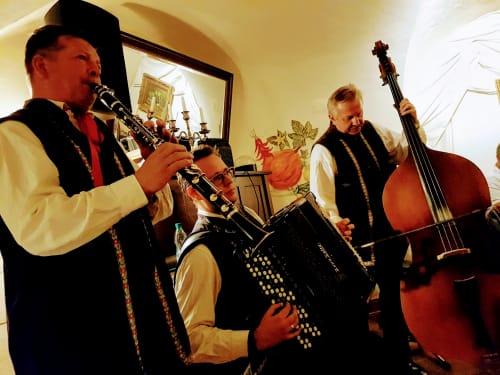 ポーランドフォークロアショーの音楽隊