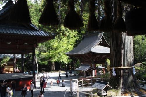 北口本宮冨士浅間神社 拝殿から