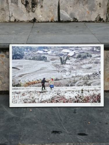 サパの雪写真
