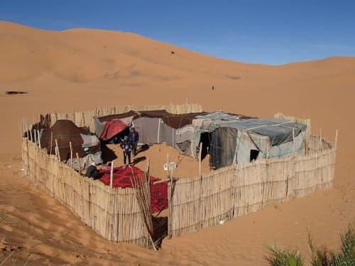 モロッコ メズルーガ 砂漠ホテル