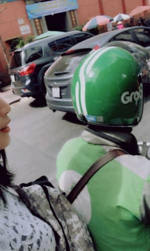 バイクに乗ったときの写真