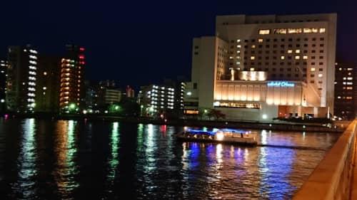 信濃川ウォーターシャトルのナイトクルーズ
