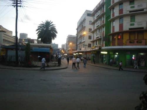 タンザニアの町
