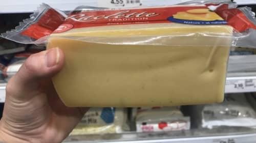 ラクレットチーズのブロック体