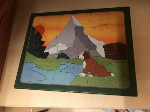 セントバーナード犬のパズル