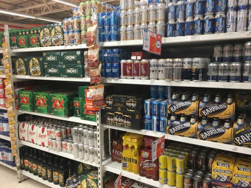 スーパーのお酒コーナー