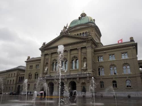 スイスの首都にある連邦議事堂