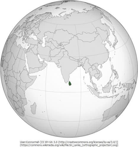 スリランカの位置