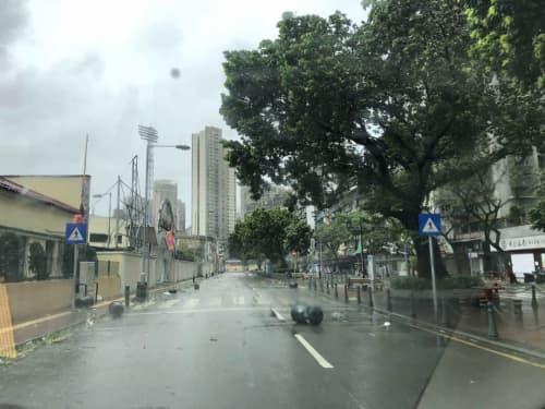 マカオ 台風