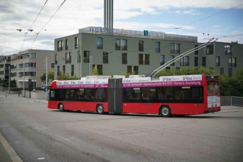 ベルン市内のバス