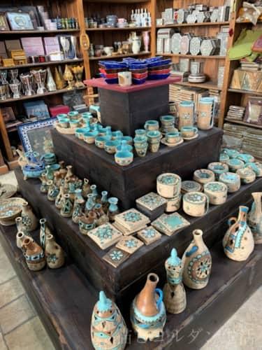 ヨルダン土産、アフガニの陶器。