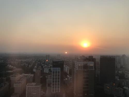 上海 夕日